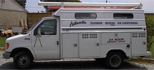 Service Heating, Air Conditioning and Plumbing Truck photo